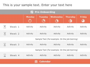 Induction Training Calendar Powerpoint Template