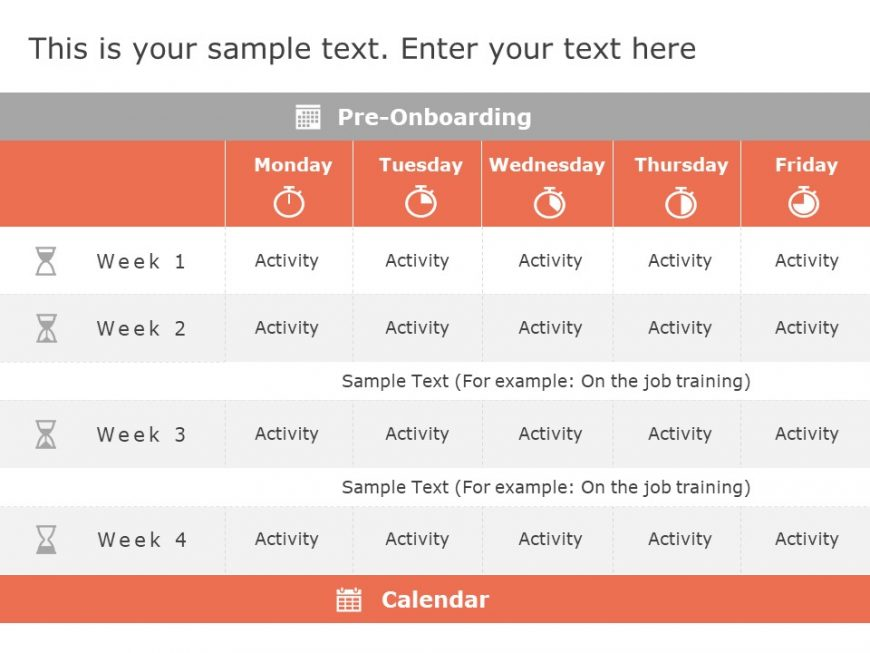 Induction Training Calendar Powerpoint Template