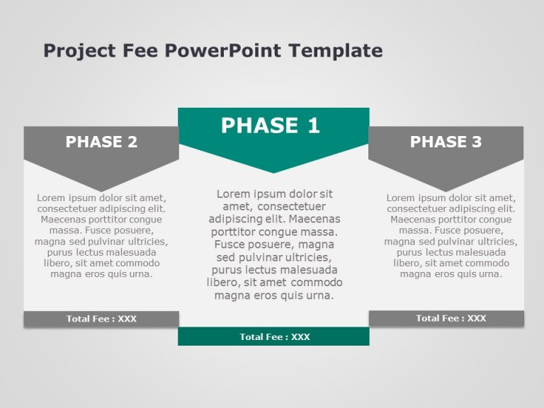 Project Fee PowerPoint Template