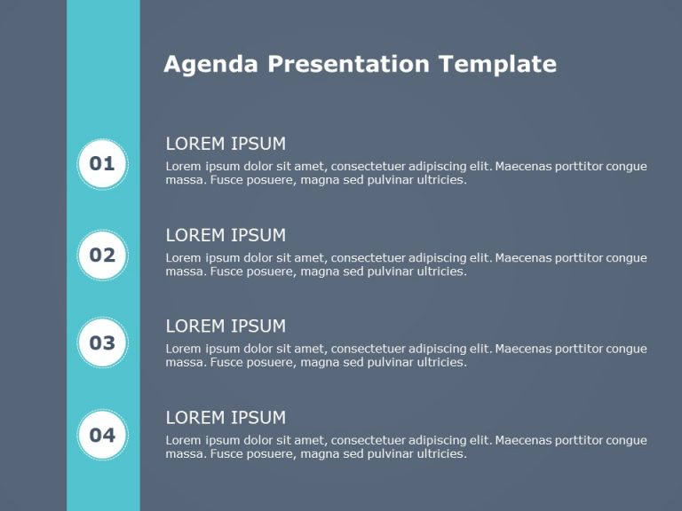 Agenda PowerPoint Template 9