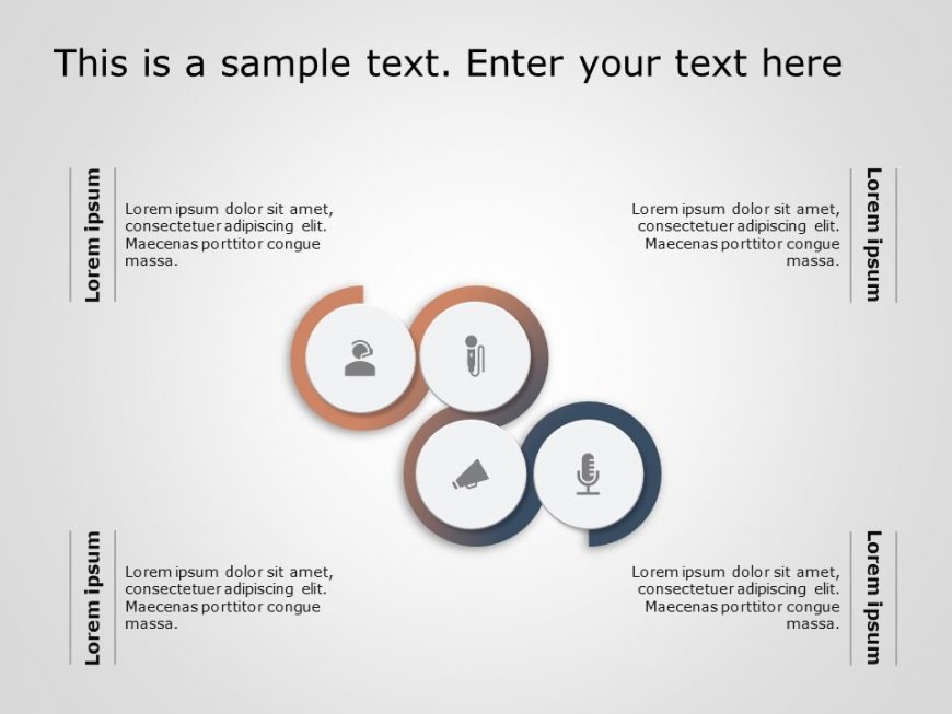 Circular Core Competencies PowerPoint Template