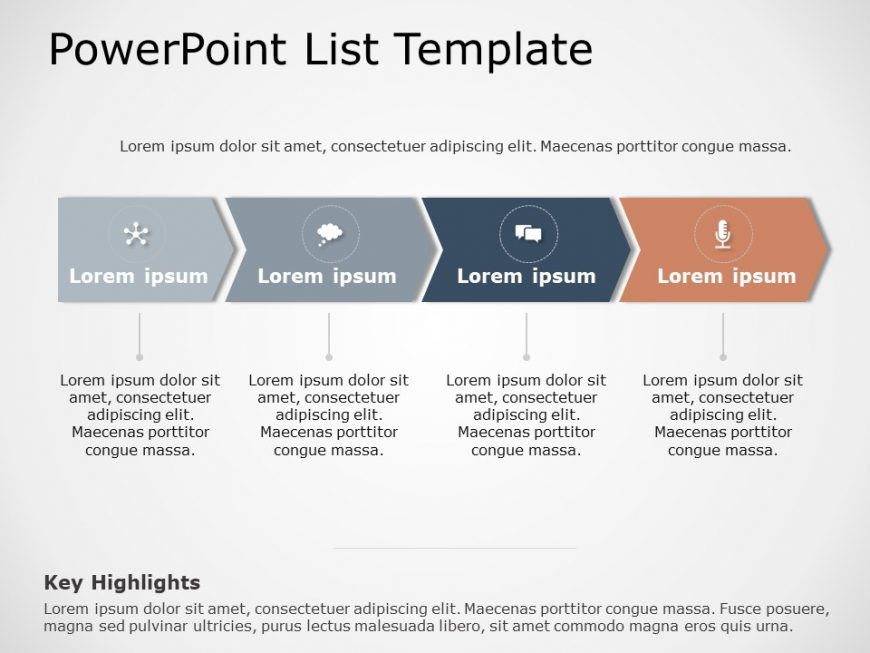 Free 4 Steps Chevron PowerPoint Template