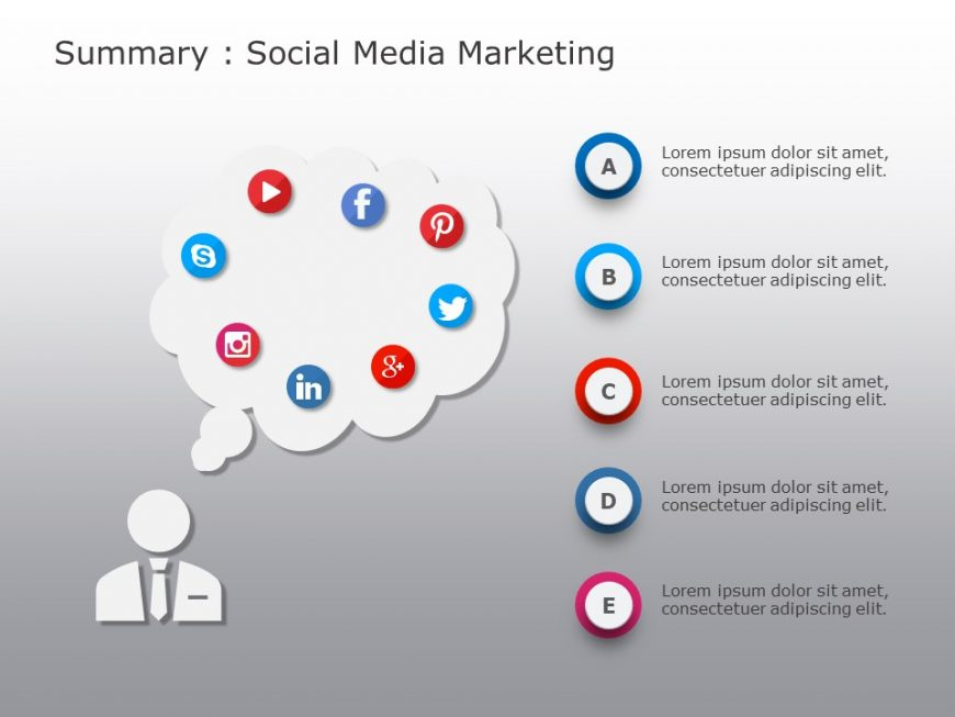 Social Media Marketing PowerPoint Template 5