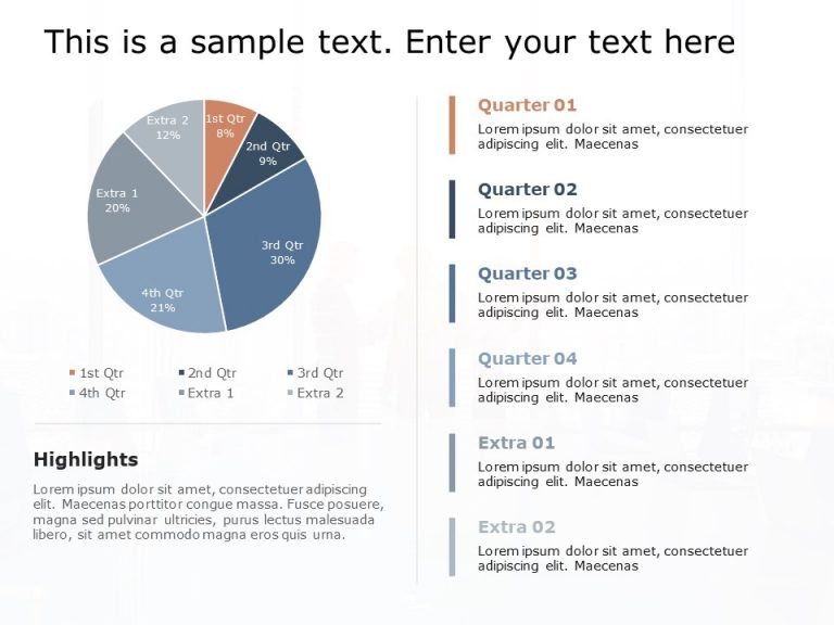 Performance Pie Chart Powerpoint Template