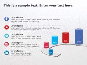 Social Media Market Share PowerPoint Template 3
