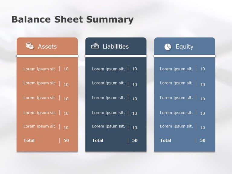 balance sheet summary powerpoint template