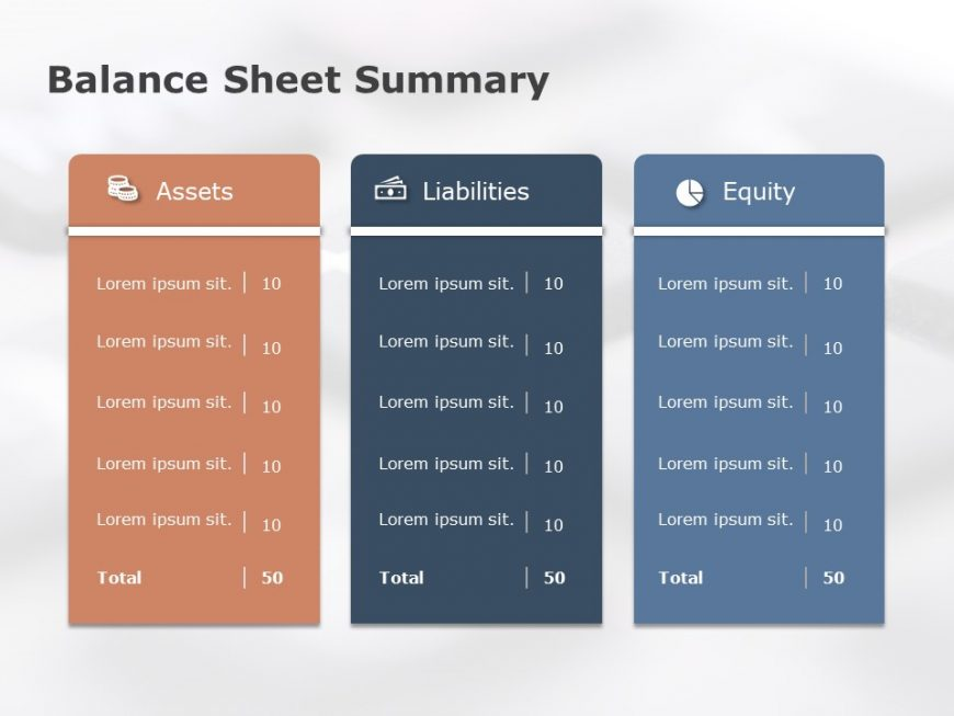 balance sheet summary powerpoint template