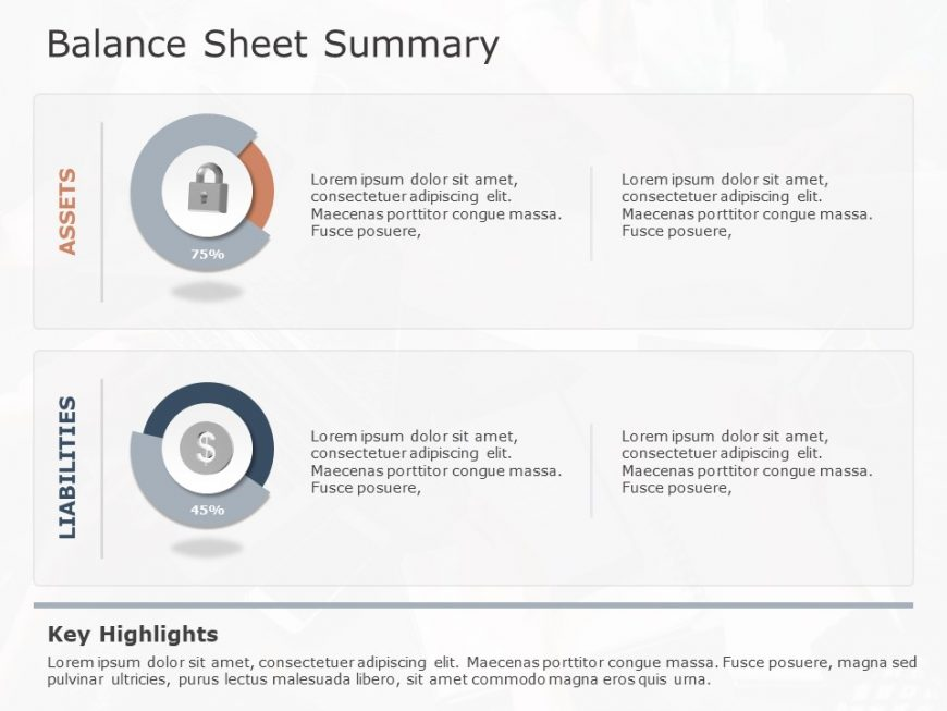 balance sheet summary powerpoint template 1