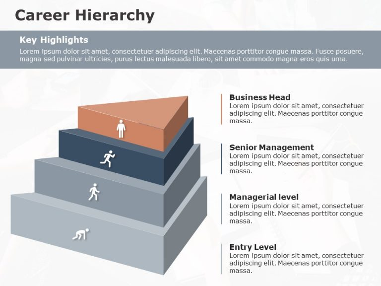 Career hierarchy powerpoint template 2