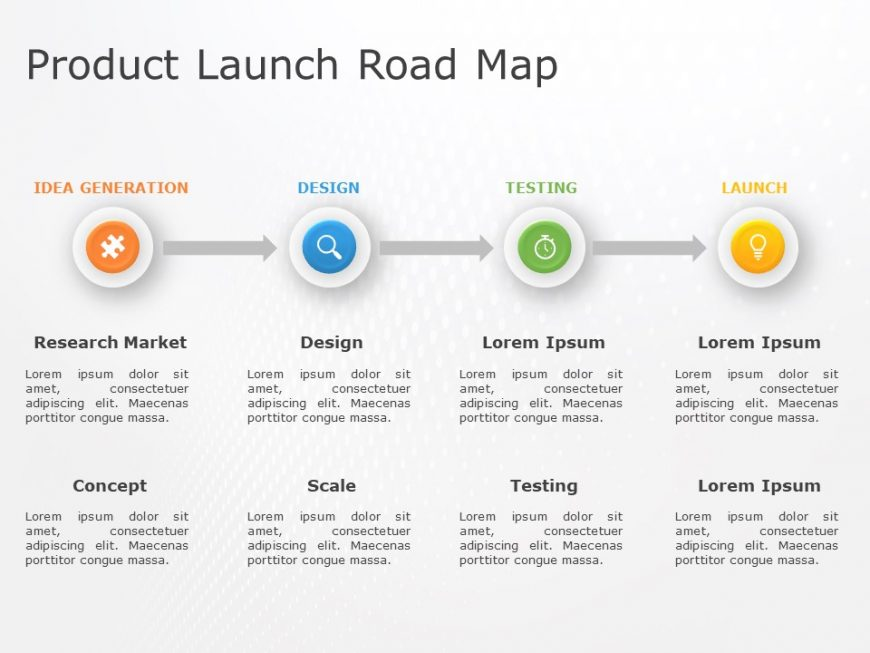 Product RoadMap PowerPoint Template 12
