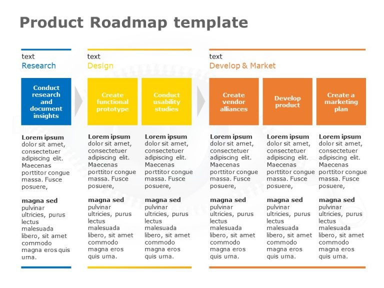 Product RoadMap PowerPoint Template 17