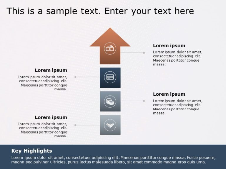 4 Steps Arrow Growth Drivers PowerPoint Template 2