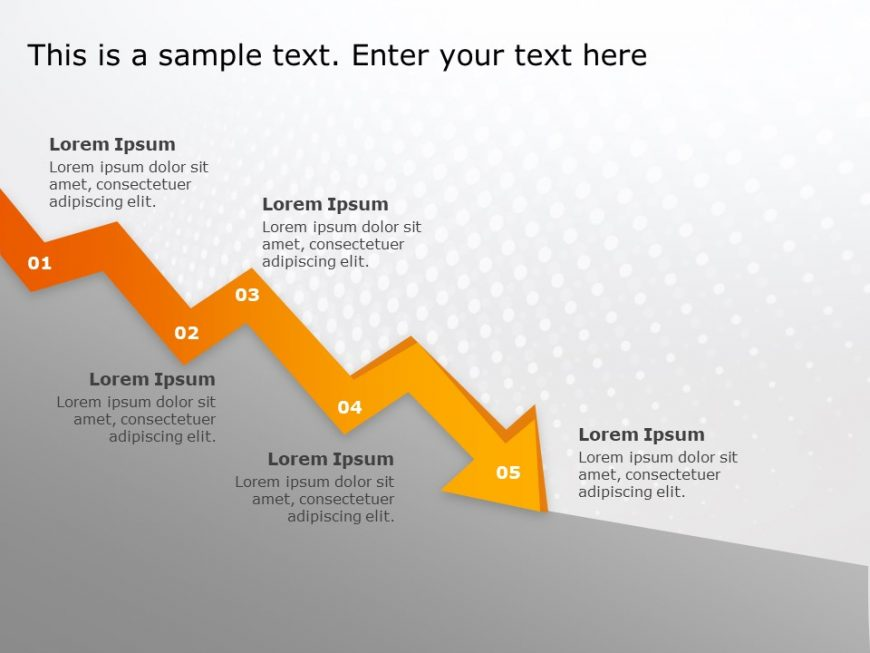 Risk Arrow PowerPoint Template