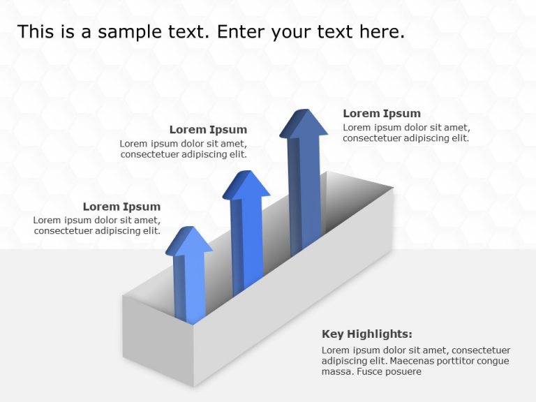 3 Steps Arrow Growth Drivers PowerPoint Template 3