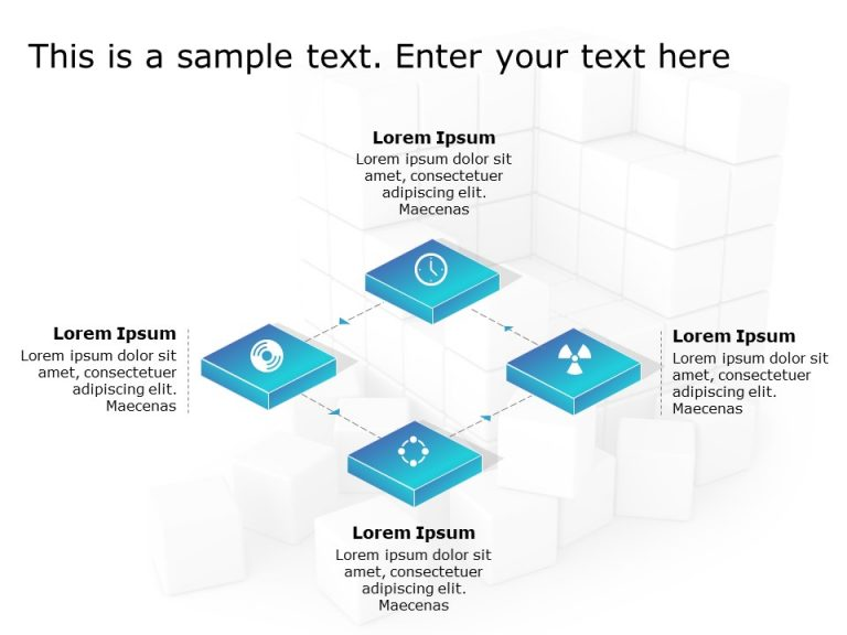 4 Steps Process Flow PowerPoint Template 1