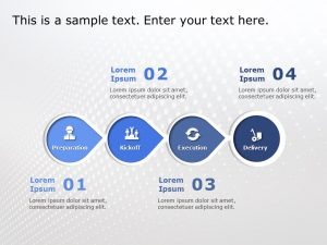 4 Steps Arrows PowerPoint Template 1