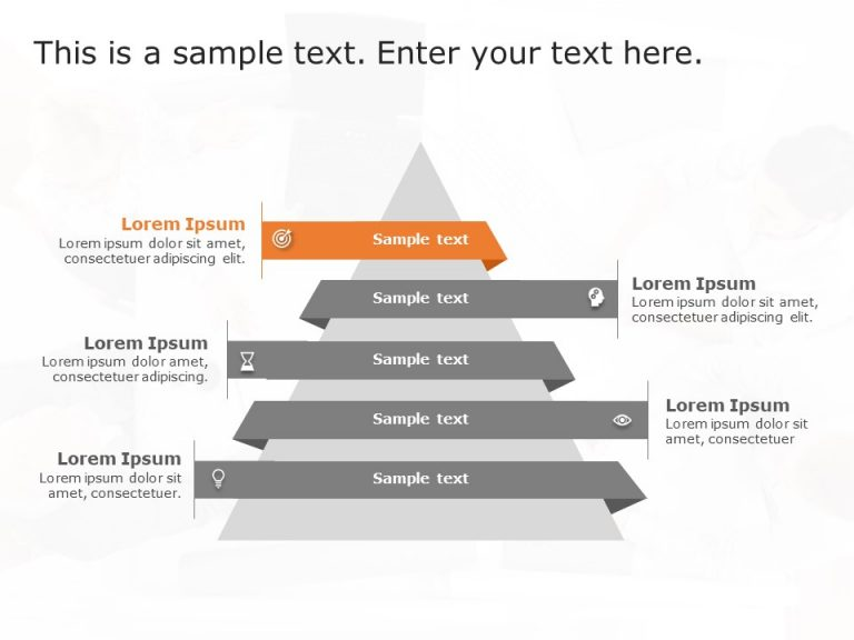 5 Steps Triangle Growth Drivers PowerPoint Template
