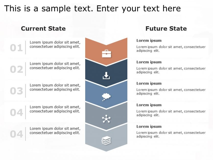Current State Vs Future State PowerPoint Template