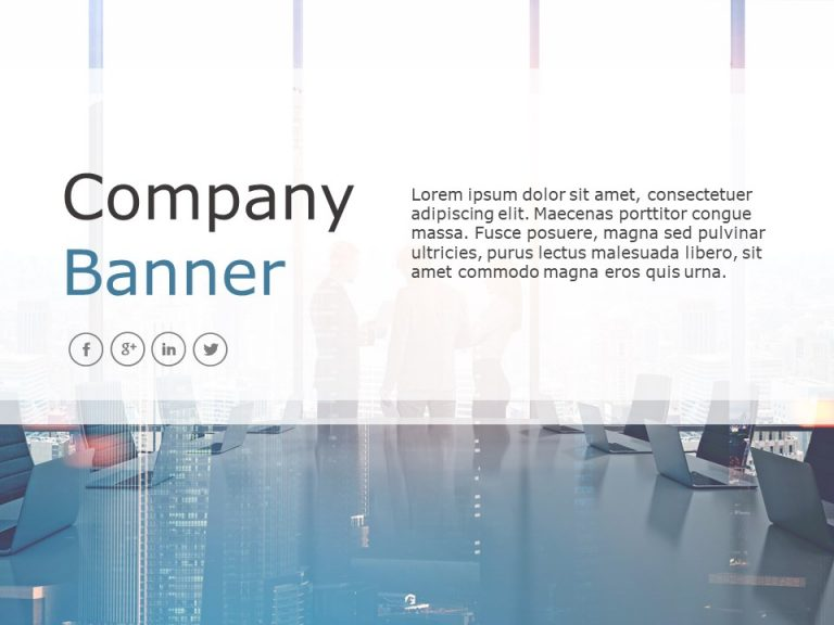 Company Banner PowerPoint Template 3