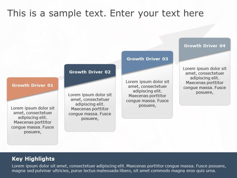 Business Growth Drivers Arrows PowerPoint