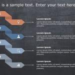 Arrows 4 Steps PowerPoint