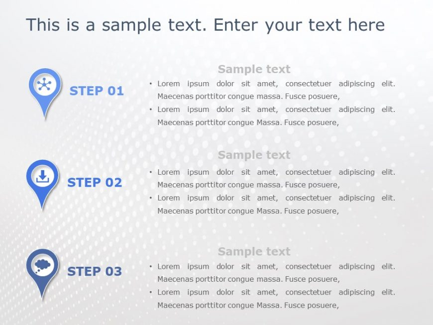 3 Steps PowerPoint Template Bubble