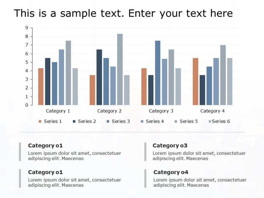 Performance Review Bar Chart Powerpoint Template