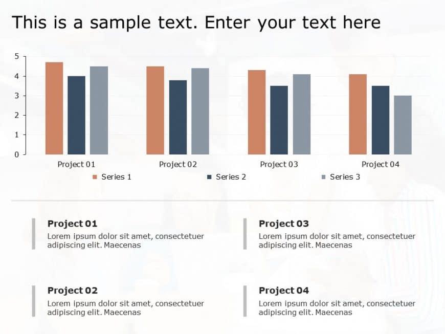 Business Analysis Bar Chart Powerpoint Template