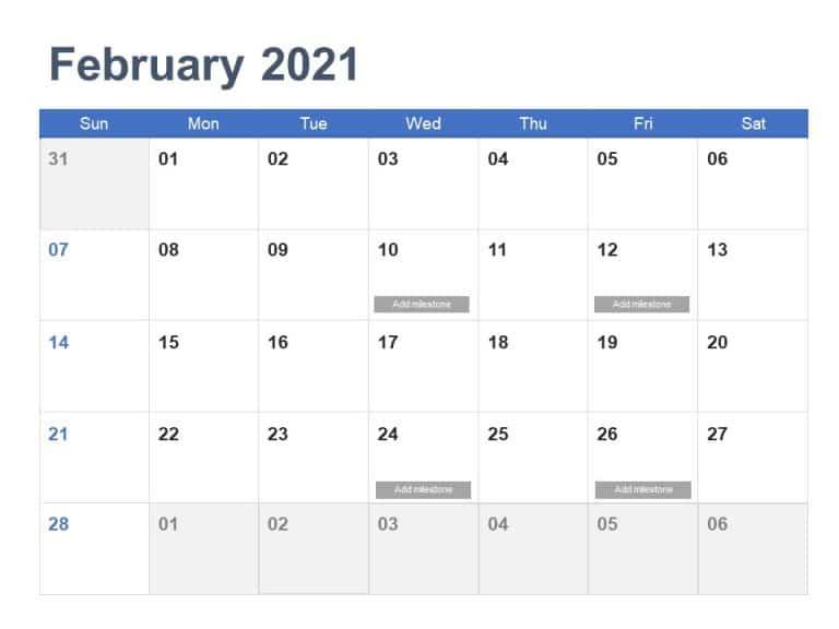Calendar PowerPoint Template 2021 Year | calendar ...