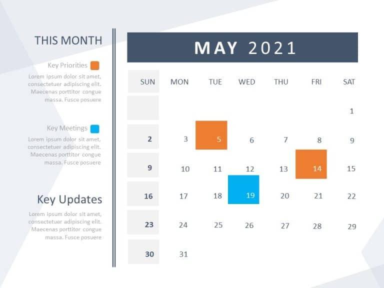 Calendar Template for PowerPoint 2021   calendar Templates ...
