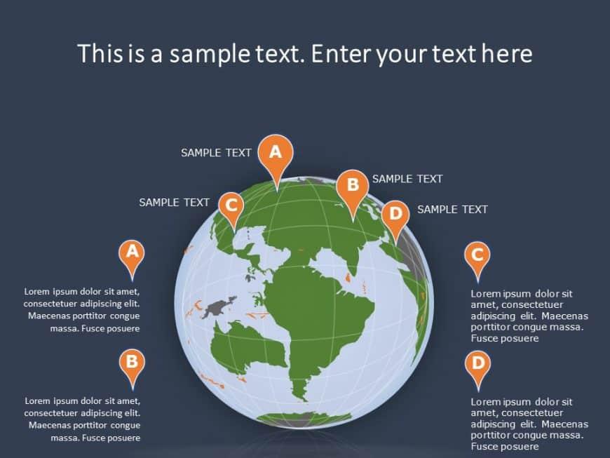 Globe Summary PowerPoint Template 6