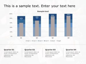 Performance graph powerpoint template 1