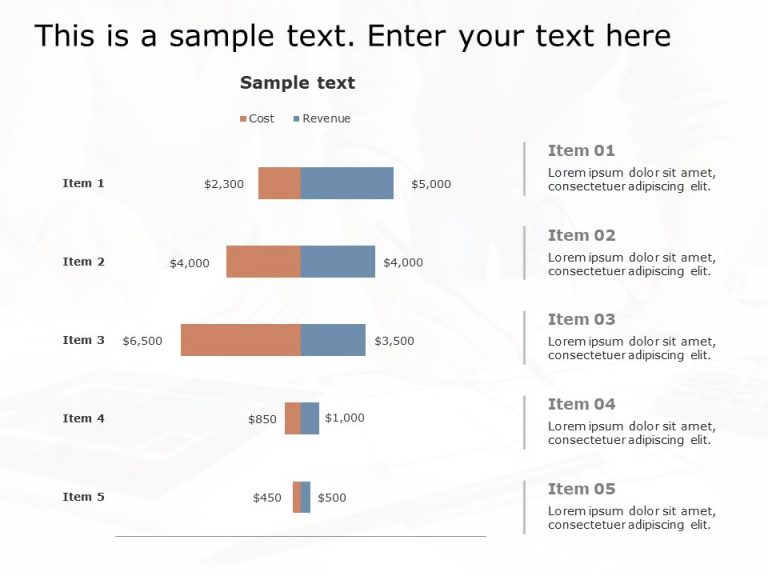Performance graph powerpoint template 2