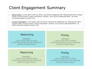 Client Engagement Summary PowerPoint Template