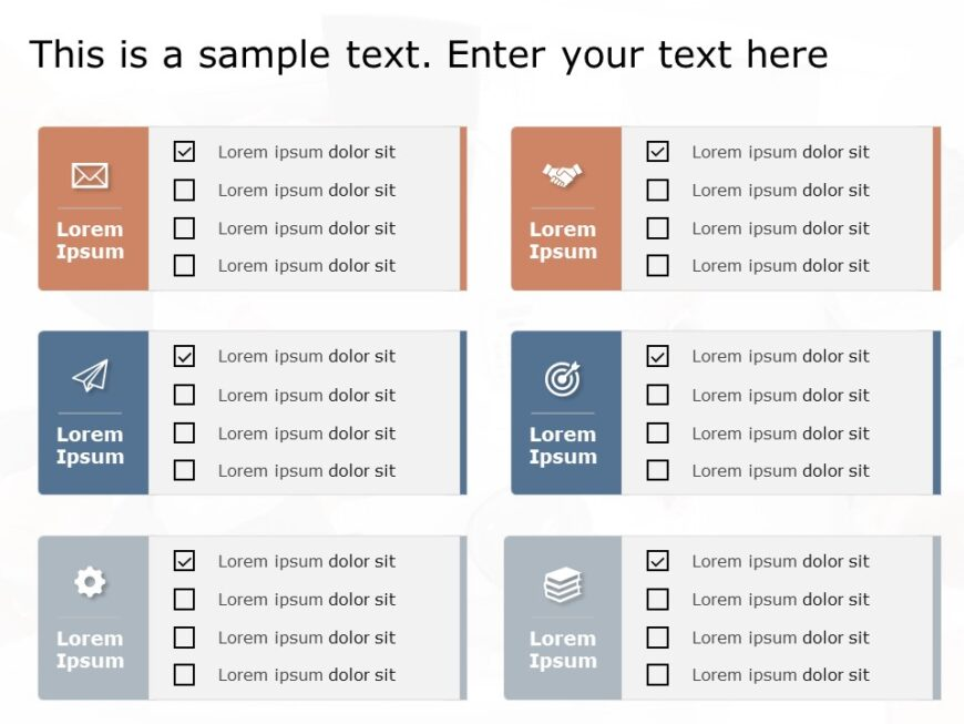 Free Product Checklist PowerPoint Template