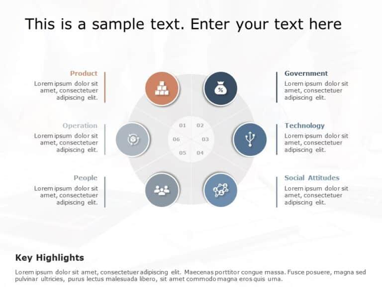 Free Oval Internal External Factors PowerPoint Template
