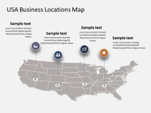 USA Map PowerPoint Template 5