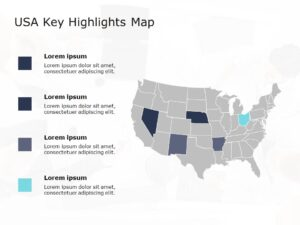 USA Map PowerPoint Template 6