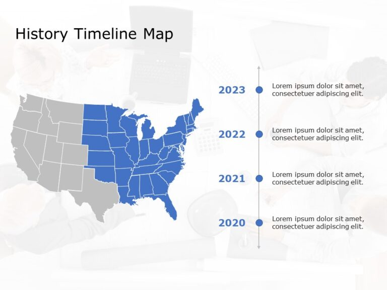 USA Map PowerPoint Template 7