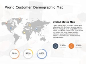 World Map Powerpoint Template 7
