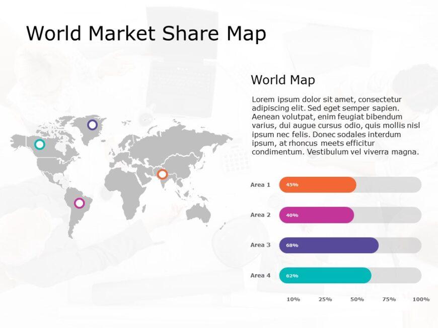 World Map Powerpoint Template 9