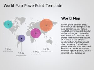 World Map Powerpoint Template 8