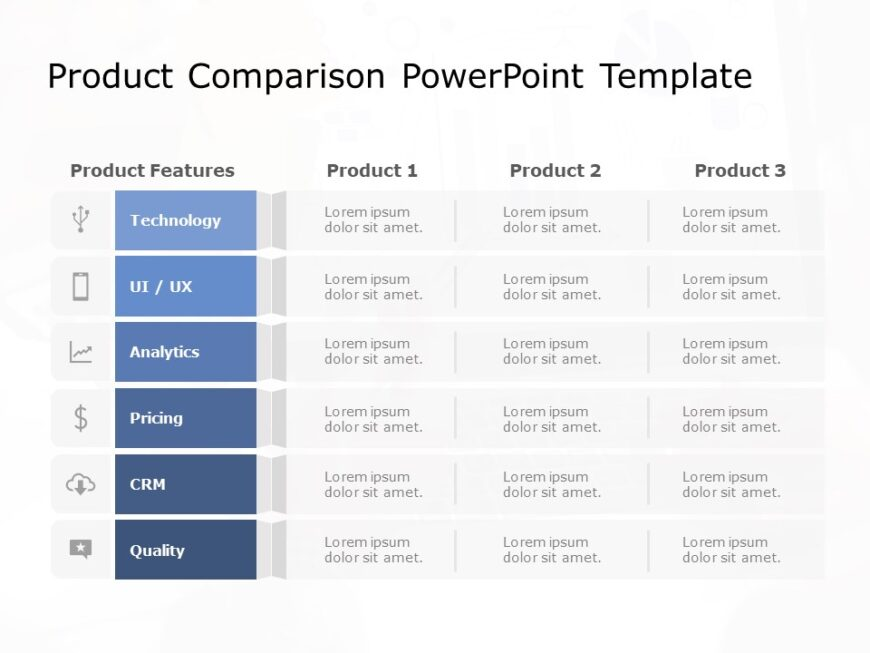 Product Comparison Powerpoint Template 2