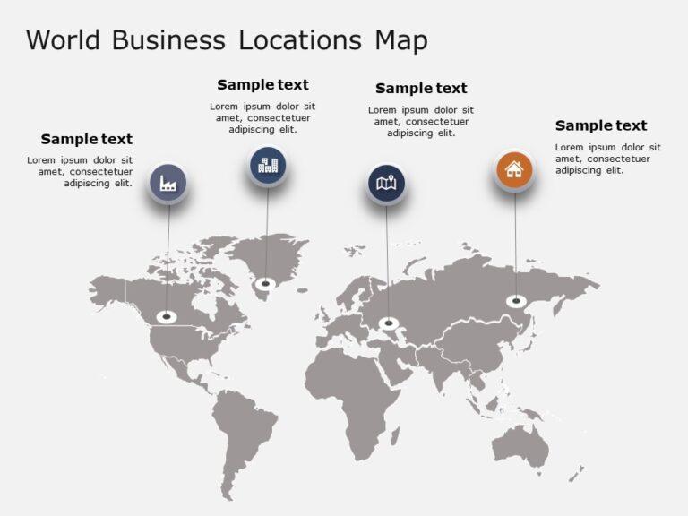World Map PowerPoint Template 6