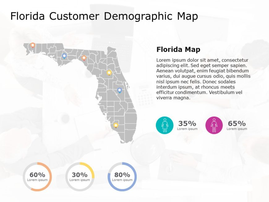 Florida Map PowerPoint Template 6