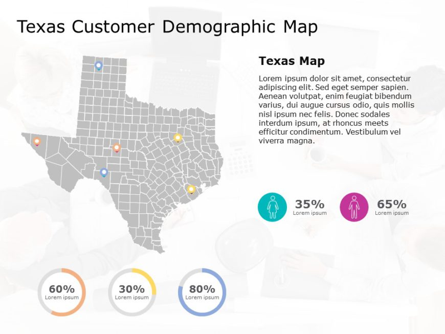 Texas Map PowerPoint Template