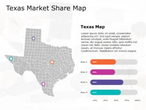 Texas Map PowerPoint Template 3