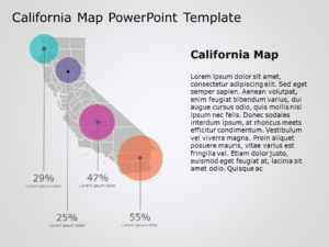 California Map PowerPoint Template 5