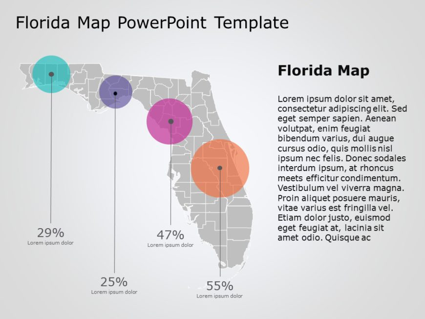 Florida Map PowerPoint Template 4