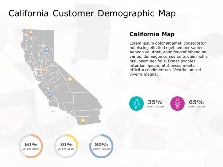 California Map PowerPoint Template 6